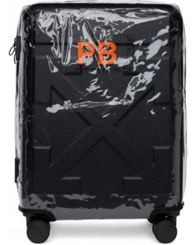 Kompresja czarny walizka przezroczysty na paskach Off-white