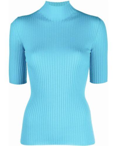 Niebieska koszulka prążkowana Mrz