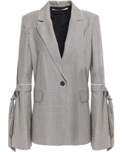 Шелковый черный пиджак с карманами Roland Mouret