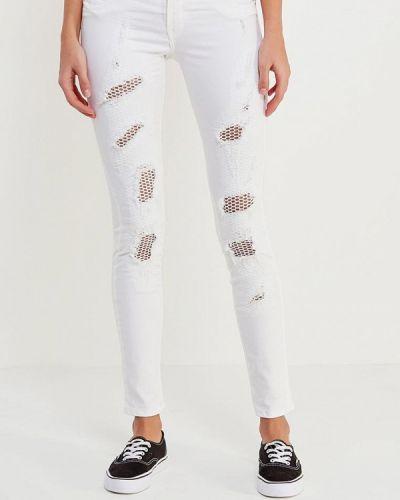 Белые джинсы-скинни Met