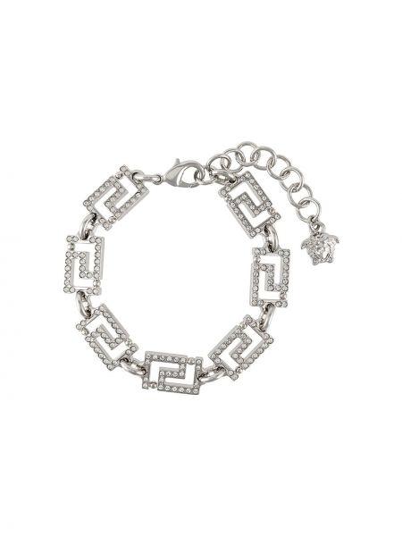 Браслет металлический - серебряный Versace