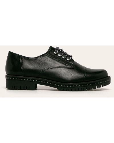 Кожаные туфли черные Tamaris