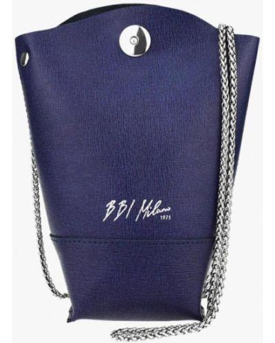 Кожаная сумка через плечо фиолетовый Bb1