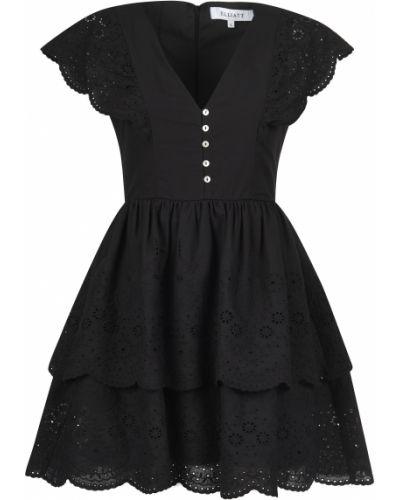 Хлопковое платье - черное Elliatt