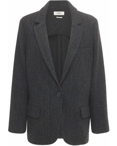 Шерстяной черный пиджак с карманами Isabel Marant étoile