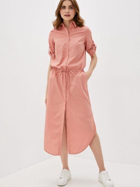 Платье розовое платье-рубашка Buono