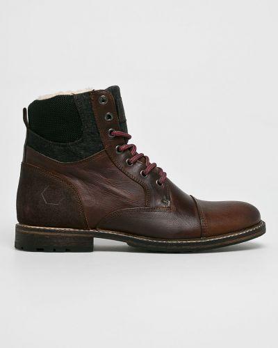 Ботинки на шнуровке кожаные высокие Bullboxer