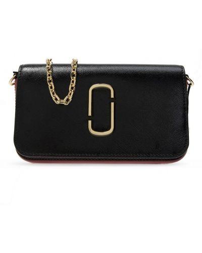 Złota torebka na łańcuszku - czarna Marc Jacobs