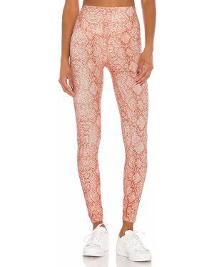 Różowe spodnie z nylonu Lovewave