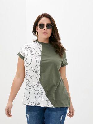 Зеленая футболка с короткими рукавами Le Monique