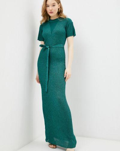 Бирюзовое трикотажное вязаное платье Silvian Heach