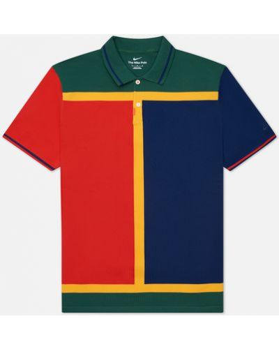 Зеленый поло с вышивкой Nike Sb