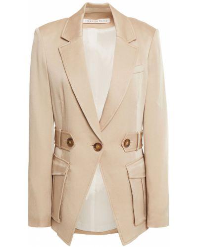Бежевый пиджак с подкладкой на пуговицах Veronica Beard