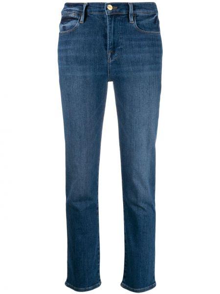 Укороченные джинсы с низкой посадкой mom Frame