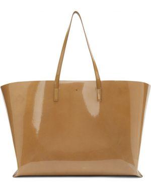 Кожаная сумка шоппер большая Jil Sander