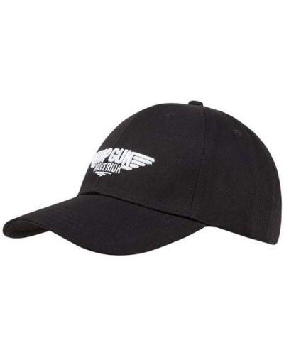 Czarna czapka z daszkiem bawełniana Top Gun