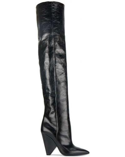 Ботфорты кожаные Saint Laurent