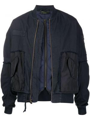 Niebieska długa kurtka pikowana z długimi rękawami Mr And Mrs Italy