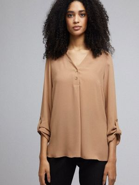 Блузка с длинным рукавом весенний бежевый Dorothy Perkins