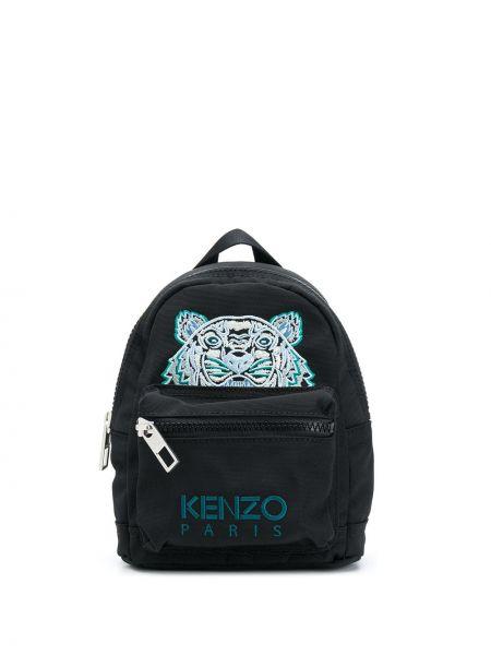 С ремешком черный рюкзак на бретелях с вышивкой Kenzo