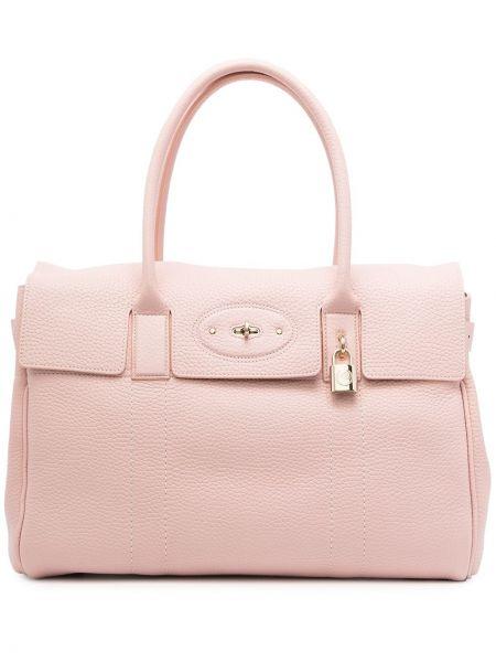 Różowa torebka skórzana Mulberry