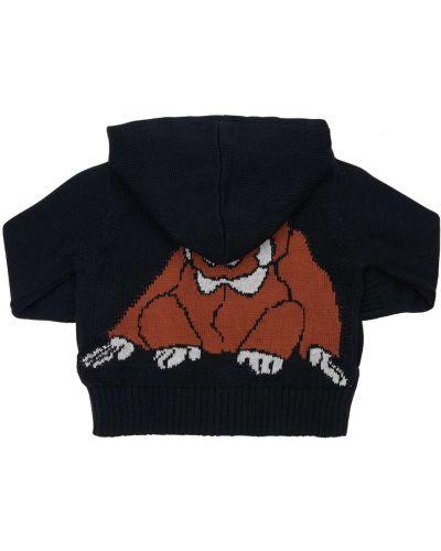 Czarny bawełna bawełna bluza z kapturem Infantium Victoria