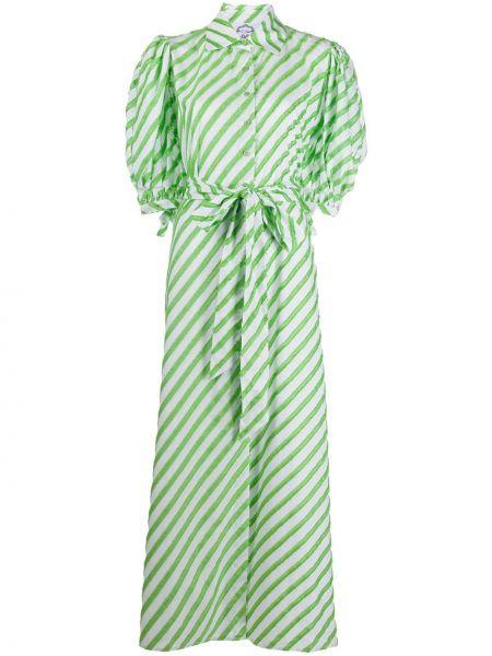 Zielona sukienka mini w paski krótki rękaw Evi Grintela