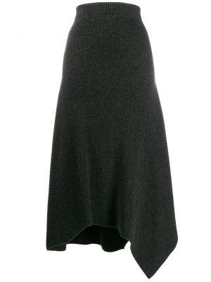 Асимметричная с завышенной талией серая юбка Pringle Of Scotland