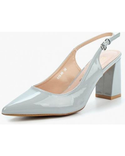 Серые кожаные туфли Rio Fiore