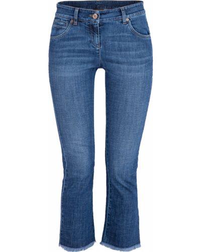 Расклешенные джинсы с эффектом потертости с карманами Brunello Cucinelli