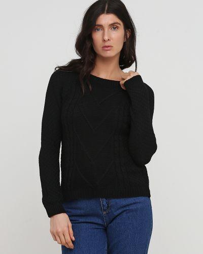 Черный вязаный свитер No Brand
