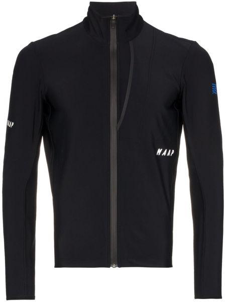 Черная зимняя куртка на молнии с воротником Maap