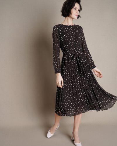Шифоновое с рукавами платье макси с поясом Ostin