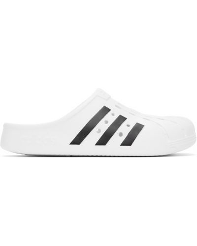 Czarne chodaki w paski Adidas Originals