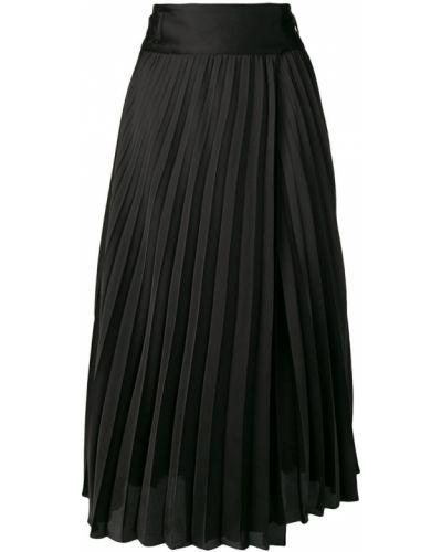 Плиссированная юбка с завышенной талией черная Liu Jo