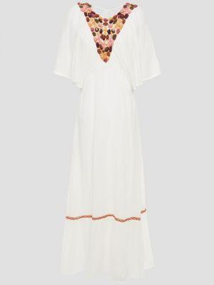 Biała sukienka midi bawełniana Antik Batik