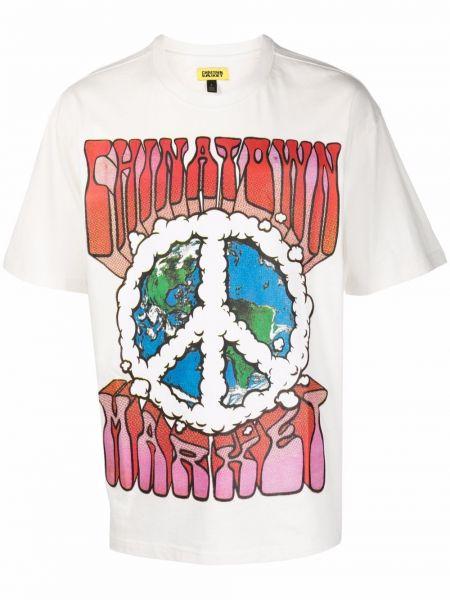 Biała koszulka krótki rękaw Chinatown Market