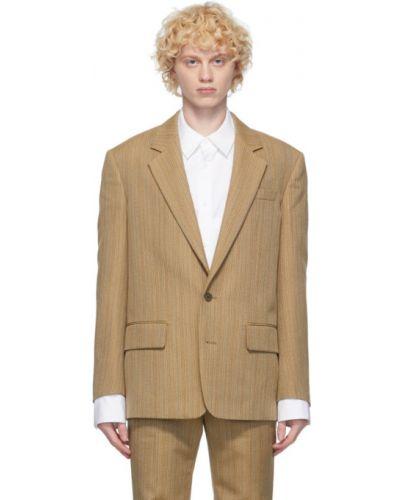 Малиновый удлиненный пиджак с карманами с нашивками System