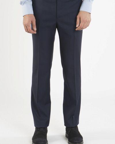 Шерстяные синие брюки Navigare