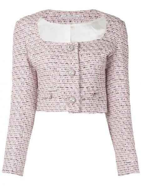 Розовый пиджак на пуговицах из вискозы Alessandra Rich