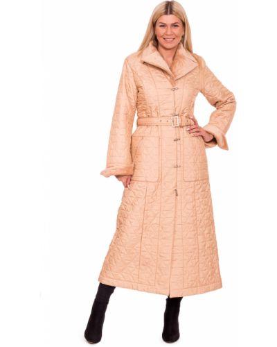 Пальто классическое на синтепоне с поясом с отложным воротником Lacywear