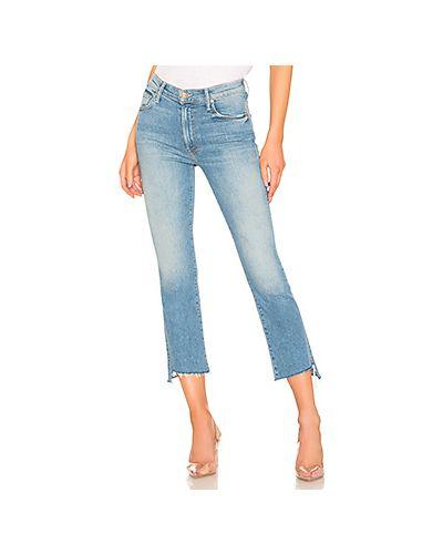 Укороченные джинсы рваные на пуговицах Mother