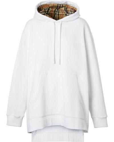 Белое худи с капюшоном винтажное Burberry