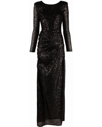 Платье макси длинное - черное Elisabetta Franchi