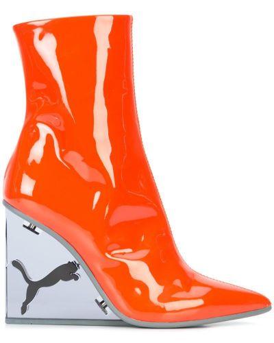 Ботинки на платформе на молнии кожаные Fenty X Puma