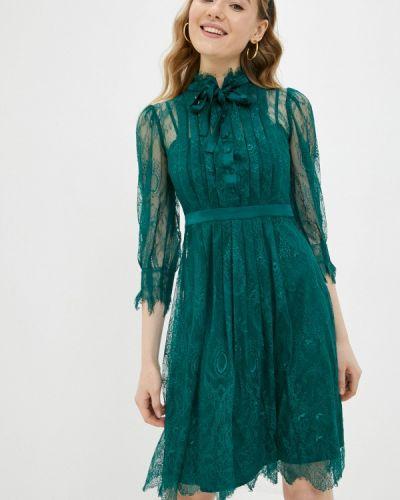 Зеленое вечернее платье Lusio