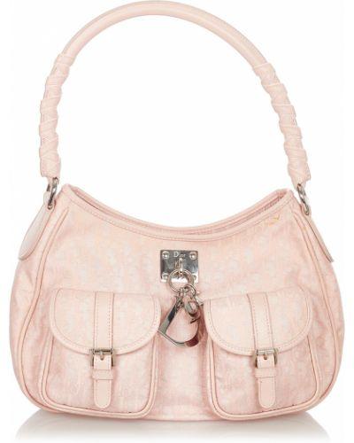 Różowa torba na ramię Dior Vintage