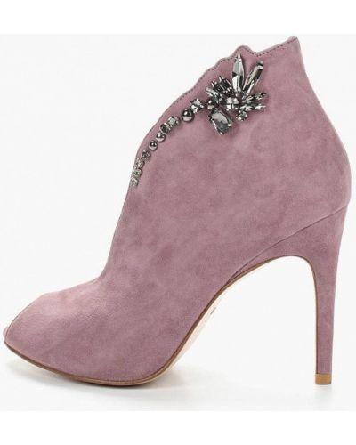 Ботильоны фиолетовый на каблуке Mallanee