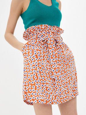 Оранжевая юбка свободного кроя Compania Fantastica