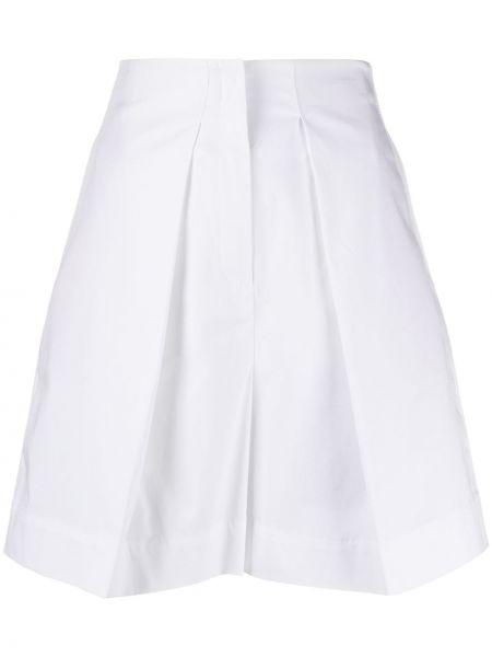 Хлопковые белые шорты с поясом Gina